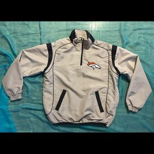 Denver Broncos Windbreaker Jacket Medium Gray NFL